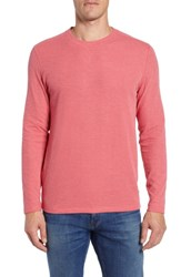 Bonobos Slim Fit Ribbed Double Face T Shirt Heather Cherry