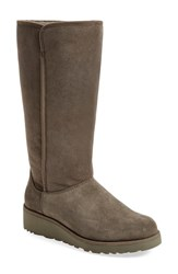 Women's Ugg 'Kara Classic Slim' Water Resistant Tall Boot Grey Suede