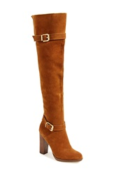 Report Signature 'Lipton' Over The Knee Boot Women Tan Suede