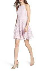 Soprano Lace Skater Dress Purple Moss