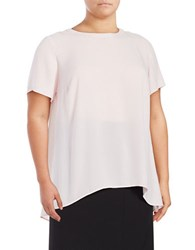 Vince Camuto Plus Lace Accented Hi Lo Top Red