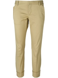 Dsquared2 Cropped Chinos Nude And Neutrals