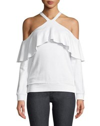 Bailey 44 Window Shop Cold Shoulder Knit Top White