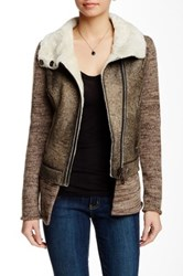 Doma Vintage Genuine Shearling Jacket Gray