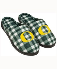 Forever Collectibles Oregon Ducks Flannel Slide Slippers Green