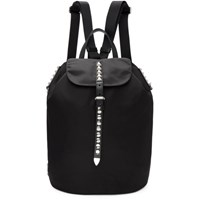 Prada Black Studded New Vela Backpack