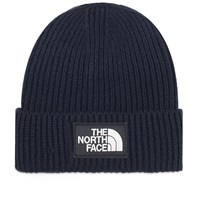 The North Face Logo Box Cuffed Beanie Blue