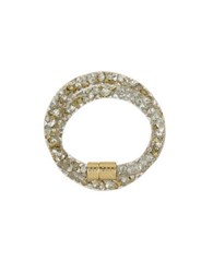 Laundry By Shelli Segal Hollywood And Vine Crystal Mesh Wrap Bracelet White