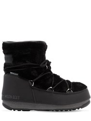Moon Boot Monaco Low Faux Fur Boots Black
