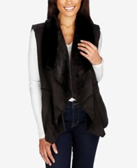 Lucky Brand Faux Fur Vest Lucky Black