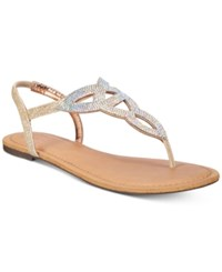 Material Girl Swirlz T Strap Flat Sandals Only At Macy's Women's Shoes Blush