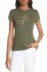 Ted Baker London Drop Gorgeous Fitted Tee Khaki