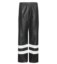 Calvin Klein Leather Trousers Green
