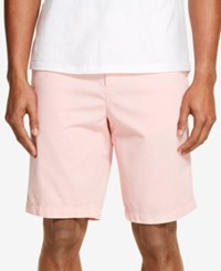 Dkny Relaxed Straight Fit Brushed Twill Shorts Quartz Pink