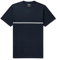 Todd Snyder Striped Cotton Jersey T Shirt Midnight Blue