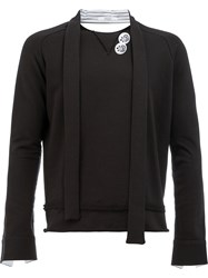 Aganovich Tied Neck Sweatshirt Black
