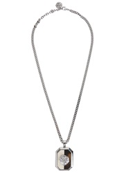 Versus Lion Silver Tone Necklace