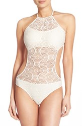 Junior Women's Bp. Crochet One Piece Swimsuit