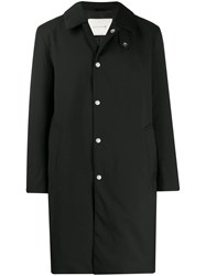Mackintosh Dunkeld Black Storm System Wool Thindown 3 4 Coat Gm