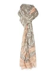 Armani Jeans All Over Logo Scarf Grey
