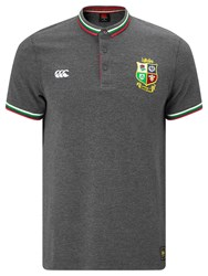 Canterbury Of New Zealand British And Irish Lions Rugby Tipped Polo Shirt Grey