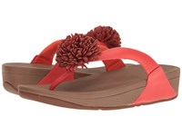Fitflop Flowerball Leather Toe Post Flame Women's Sandals Orange