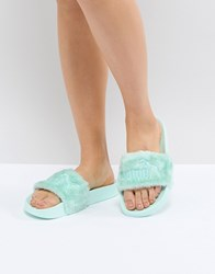 Puma Fenty Fur Slide Green