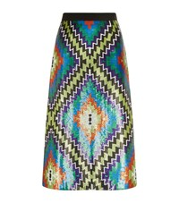 Andrew Gn Sequin Kilim Midi Skirt Female Multi