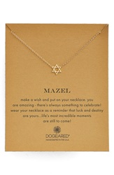 Dogeared 'Mazel' Star Of David Pendant Necklace Gold