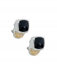 Lagos Embrace Black Spinel And Diamond Drop Earrings