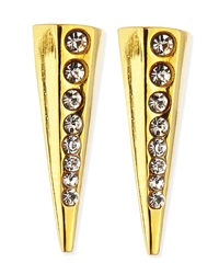 Paige Novick Gold Plated Pointy Stud Earrings