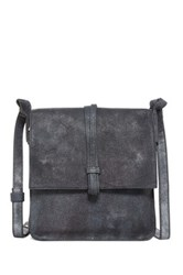 Cynthia Vincent Deliz Leather Flap Messenger Bag Black