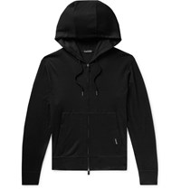 Tom Ford Cashmere Zip Up Hoodie Black