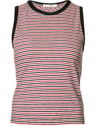 Rag And Bone Jean Striped Tank Top Red