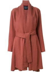 Lanvin Belted Trench Coat Pink And Purple