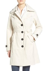 Women's Nanette Lepore Twill Trench Coat Oyster