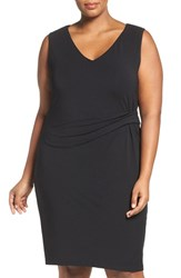 Tart Plus Size Women's Margaux Twist Front Sheath Dress Black