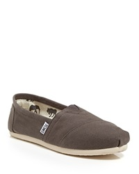 Toms Slip On Flats Classic Canvas Grey