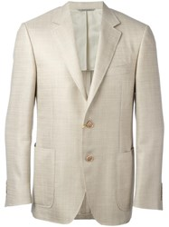 Canali Patch Pockets Jacket Nude Neutrals