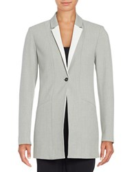 T Tahari Georgina One Button Blazer Light Grey