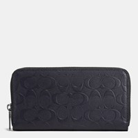 Coach Accordion Wallet In Signature Crossgrain Leather Midnight