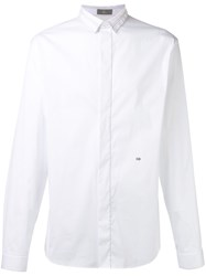 Christian Dior Homme Tuxedo Shirt With Embroidered Initial Detail White