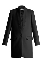 Stella Mccartney Bryce Single Breasted Wool Blend Coat Black