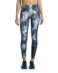 Terez Disco Fever Performance Leggings Black Pattern