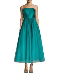 Ml Monique Lhuillier Strapless Ombred Tulle Tea Length Gown Women's