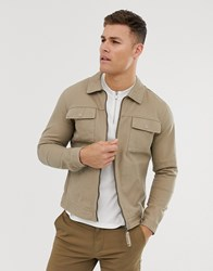 Selected Homme Twill Jacket Beige