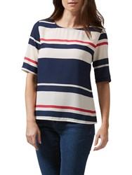 Sugarhill Boutique Honour Love Stripe Top Cream Navy