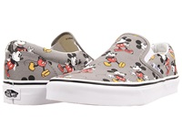 Vans Disney Classic Slip On Disney Mickey Mouse Frost Gray Skate Shoes