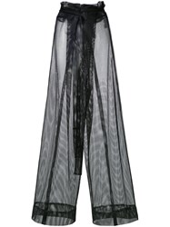 Demoo Parkchoonmoo Mesh Flared Trousers Black