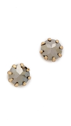 Rebecca Minkoff Rhinestone Stud Earrings Hematite